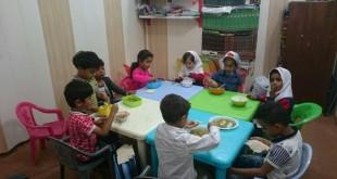 طرح یک وعده غذای گرم در مهد کودک مبین قشم